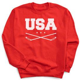 Hockey Crew Neck Sweatshirt - USA Hockey