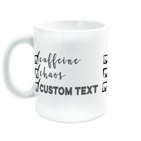 Personalized For You Coffee Mug - Caffeine, Chaos and (Custom)