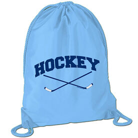 Hockey Crossed Sticks Sport Pack Cinch Sack