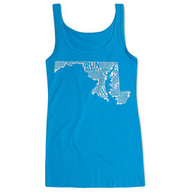 Women's Athletic Tank Top Maryland State Runner