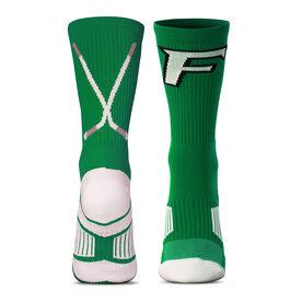 Custom Hockey Woven Mid-Calf Socks - Logo