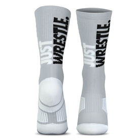 Wrestling Woven Mid-Calf Socks - Just Wrestle (Gray)