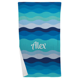 Personalized Beach Towel - Making Waves