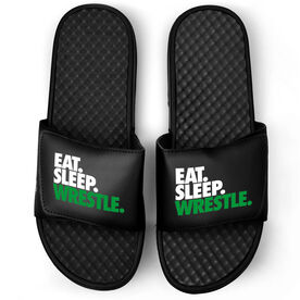 Wrestling Black Slide Sandals - Eat Sleep Wrestle