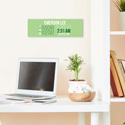 """Personalized 12.5"""" X 4"""" Removable Wall Tile - Birth Announcement"""