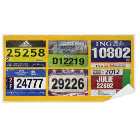 Running Premium Beach Towel - Your Race Bibs (6 Bibs)