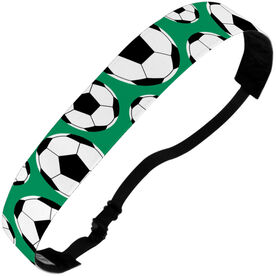 Soccer Julibands No-Slip Headbands - Tossed Ball Pattern