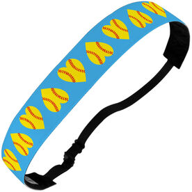 Softball Juliband No-Slip Headband - Softball Hearts