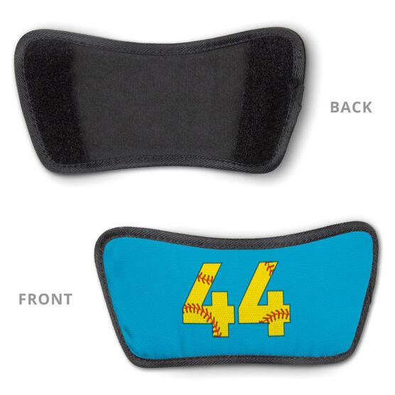 Softball Repwell® Slide Sandals - Softball Number Stitches