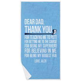Golf Premium Beach Towel - Dear Dad