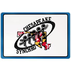 """Room Sign (18""""x12"""") - Chesapeake Synchronized Skating Logo"""