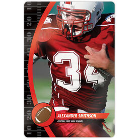 "Football 18"" X 12"" Aluminum Room Sign - Player Photo"