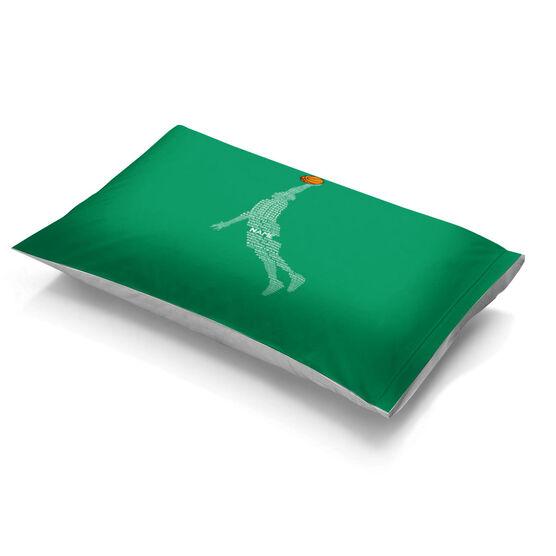 Basketball Pillowcase - Words Guy