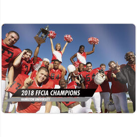 "Football 18"" X 12"" Aluminum Room Sign - Classic Horizontal Photo"