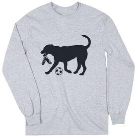 Soccer Tshirt Long Sleeve Spot The Soccer Dog