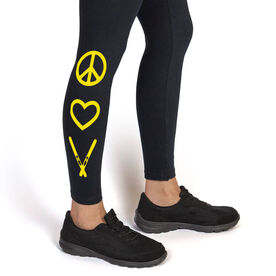 Skiing Leggings Peace Love Ski