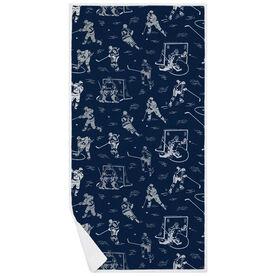 Hockey Premium Beach Towel - Player Pattern