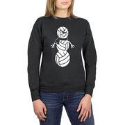 Volleyball Crew Neck Sweatshirt - Volleyball Snowman