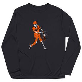 Baseball Long Sleeve Performance Tee - Home Run Zombie