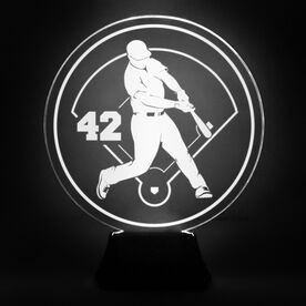 Baseball Acrylic LED Lamp Slugger With Number