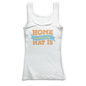 Wrestling Vintage Fitted Tank Top - Home Is Where The Mat Is