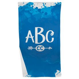 Cross Country Beach Towel Watercolor Monogram