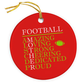 Football Porcelain Ornament - Mother Words