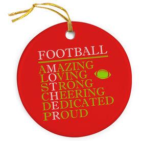 Football Porcelain Ornament - Mother Words