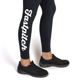 Softball Leggings Fastpitch Script