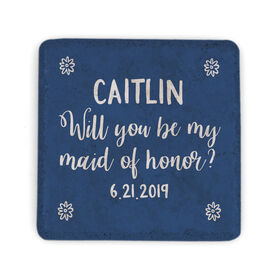 Personalized Stone Coaster - Will You Be My Maid Of Honor