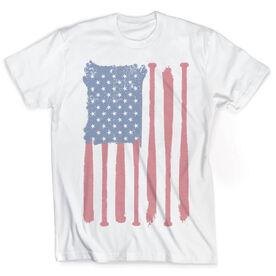 Vintage Softball T-Shirt - American Flag