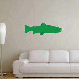 Fly Fishing Removable Wall Decal - Trout