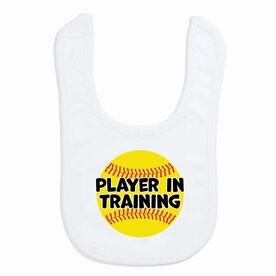Softball Baby Bib - Player in Training