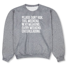 Cheerleading Crew Neck Sweatshirt - All Weekend Cheerleading