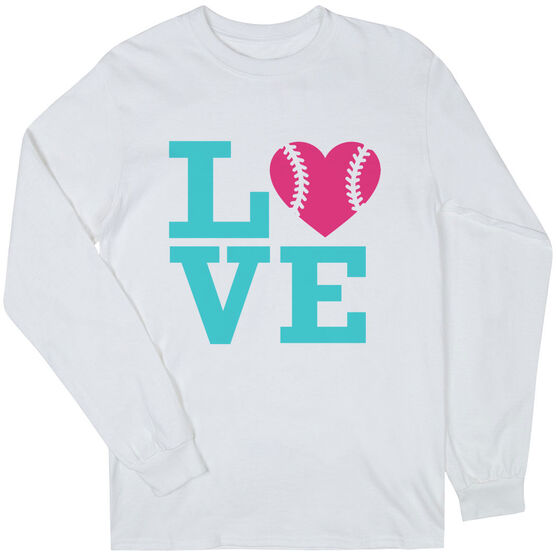Softball T-Shirt Long Sleeve Love