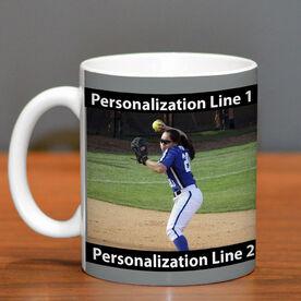 Softball Coffee Mug Custom Photo with Color