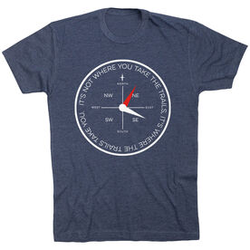 Running Short Sleeve T-Shirt - Compass - It's Not Where You Take The Trails