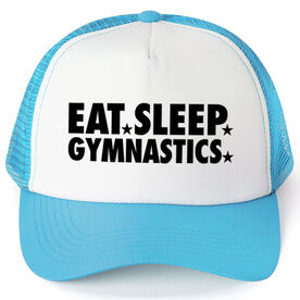 Gymnastics Trucker Hat - Eat Sleep Gymnastics