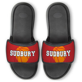 Basketball Repwell™ Slide Sandals - Basketball with Text