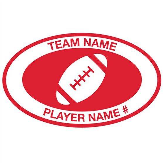 Personalized Football Vinyl Decal