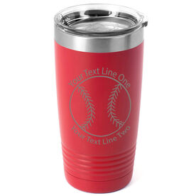 Softball 20 oz. Double Insulated Tumbler - Icon