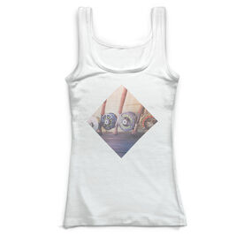 Fly Fishing Vintage Fitted Tank Top - Reels
