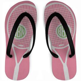 Tennis Flip Flops Monogrammed Life