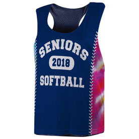 Softball Racerback Pinnie - Tie Dye Personalized Seniors