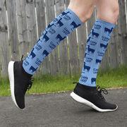Girls Lacrosse Printed Knee-High Socks - Llama Lax