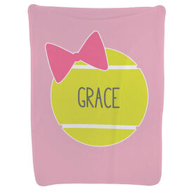 Tennis Baby Blanket - Personalized Tennis Ball Bow