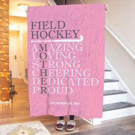 Field Hockey Premium Blanket - Mother Words