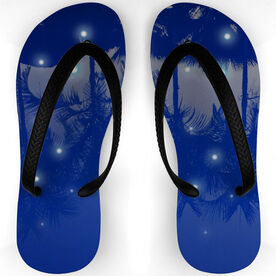 Swimming Flip Flops By The Pool At Night