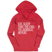 Lacrosse Lightweight Performance Hoodie - Eat Sleep Take The Kids To Lacrosse