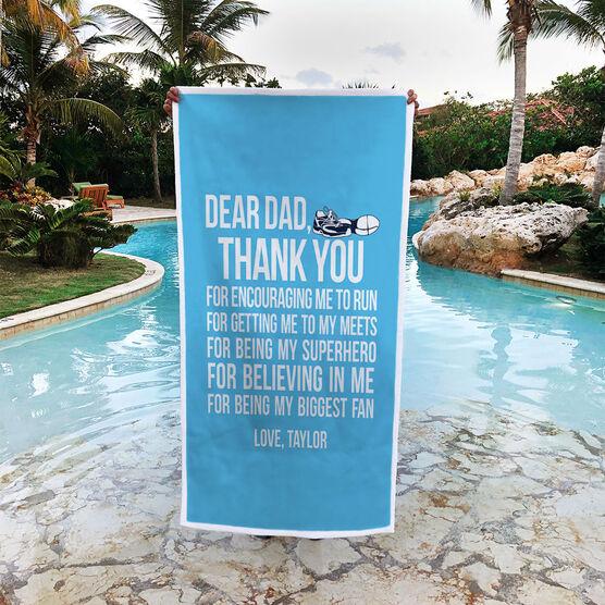 Track & Field Premium Beach Towel - Dear Dad
